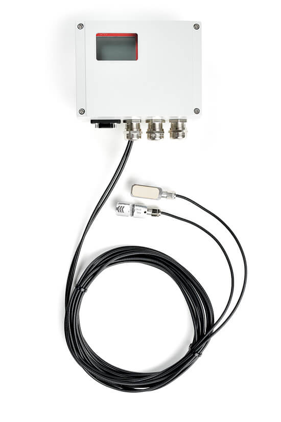 The compact clamp-on ultrasonic flow transmitter for permanent flow measurements.