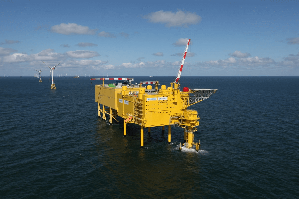 TenneT's offshore converter platforms in the North Sea