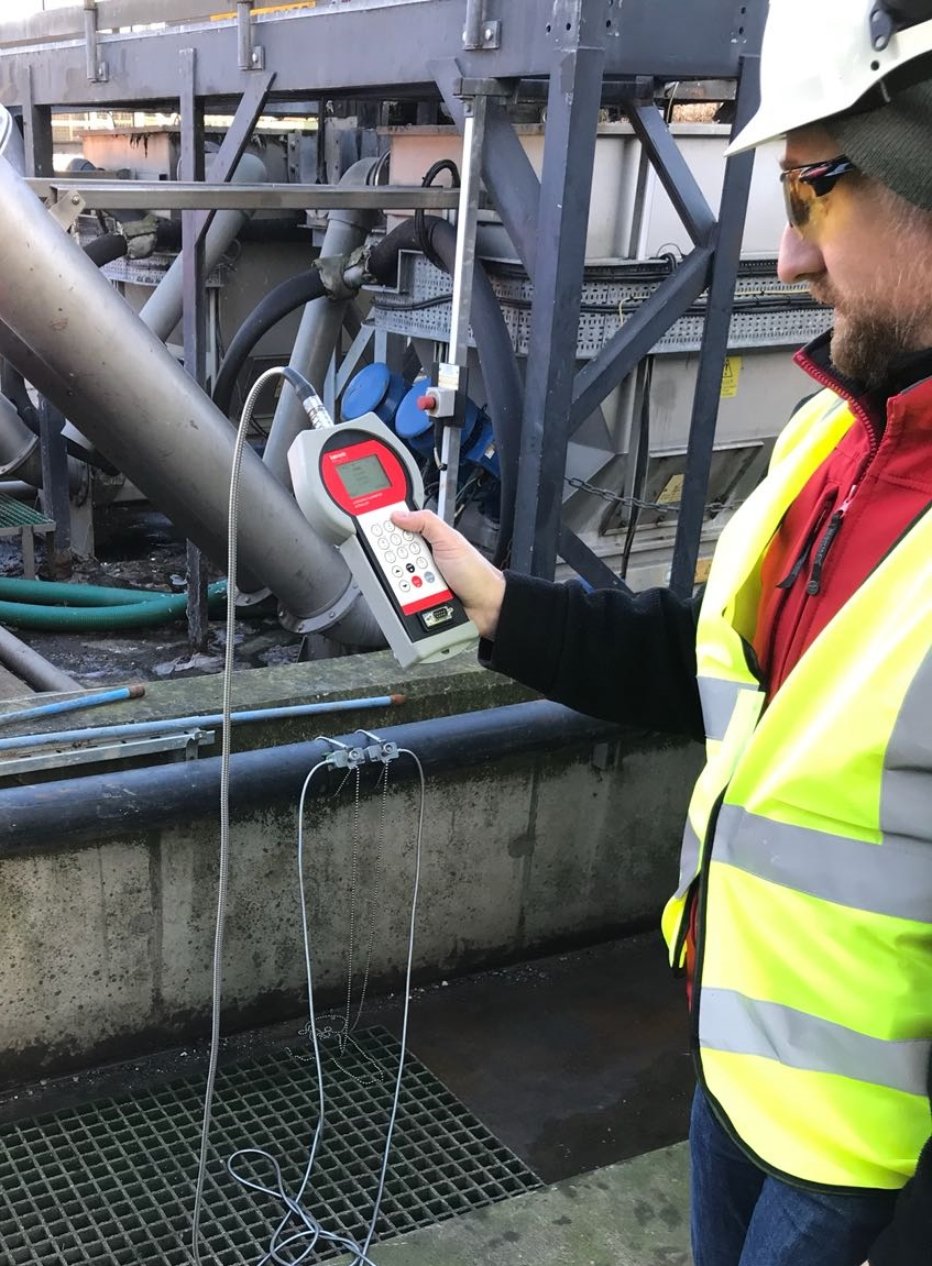 KATflow 200 measuring industrial effluent which contained a large percentage of grit and gravel